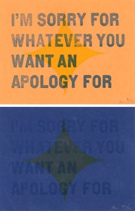 """Image of """"Apology"""" Letterpress Card"""