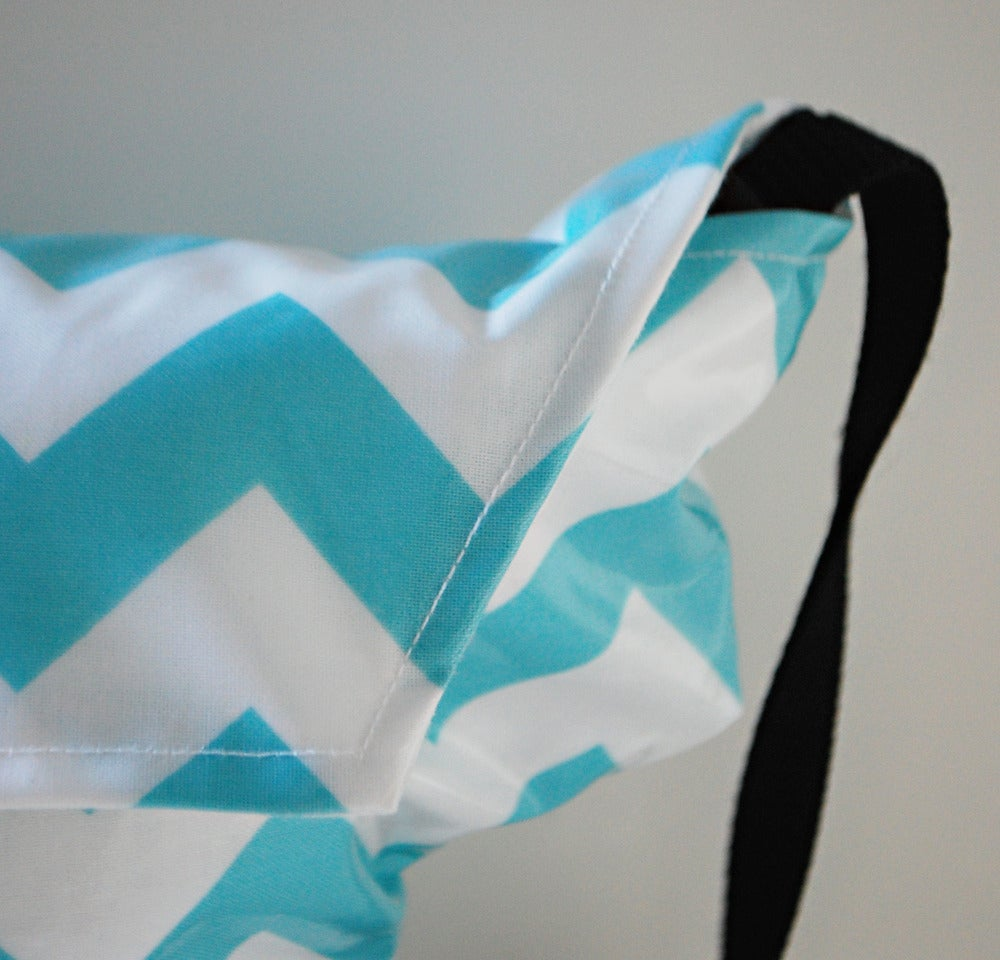 Image of Camera Pouch for Purse | Aqua Chevron {*WaterProof} Rain Slicky | Camera Cover like no other!