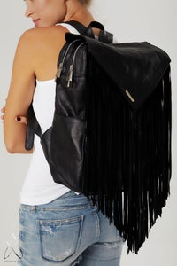 Image of Like a Feather Laptop Bag- Black