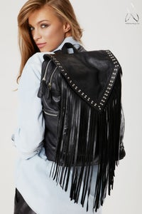 Image of Like a Feather Laptop Bag- Black Studded