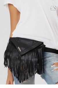 Image of Like a Feather Belt Bag- Black