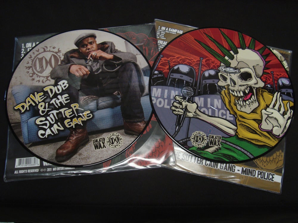 """Image of Dave Dub & The Sutter Cain Gang - """"Mind Police"""" Picture Disc Vinyl"""
