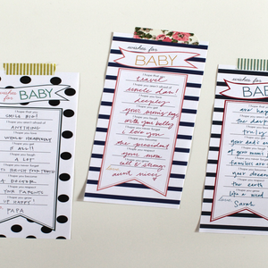 Image of Wishes For Baby Banner Stripe Blue, Coral & Yellow pdf