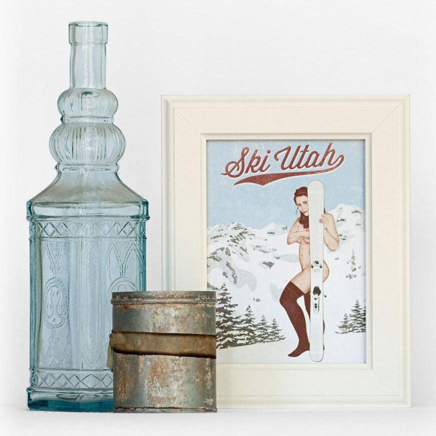 Image of Ski Utah Pin Up Print & Postcard