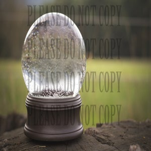Image of Snowglobe Digital Template and Tutorial