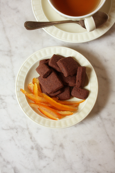 Image of Candied Orange, Cocoa & Cardamom Shortbread
