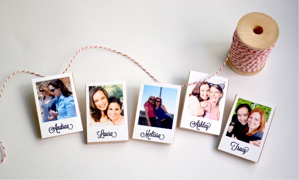 Image of Bridesmaid Bouquet Polaroid Pin Sets