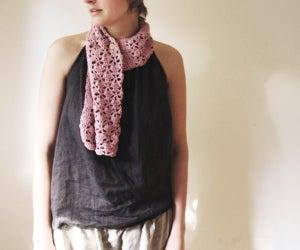 Image of Pink Organic Cotton SCARF