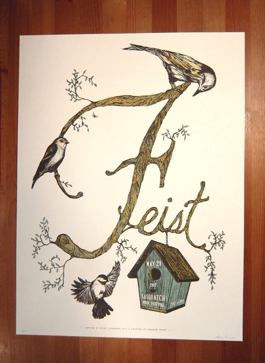 Image of Feist at Sasquatch Poster