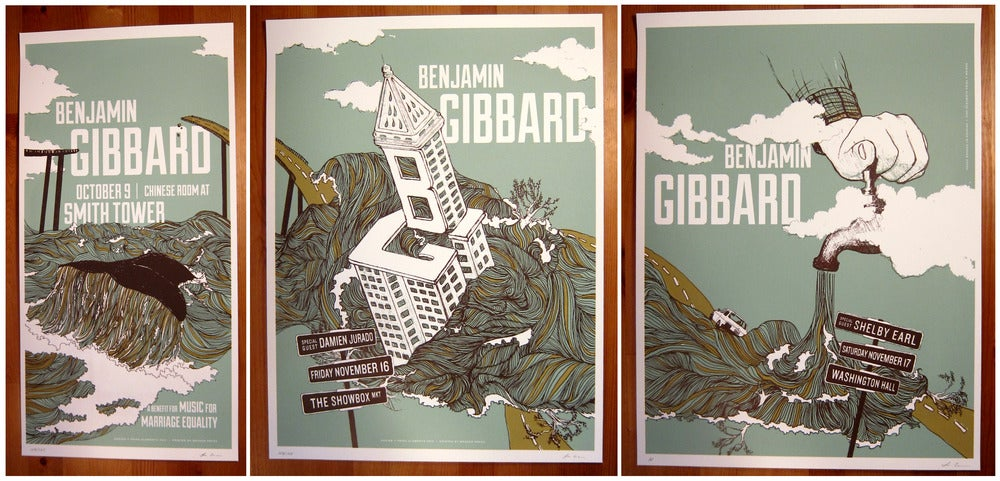 Image of Ben Gibbard | Three Poster Set