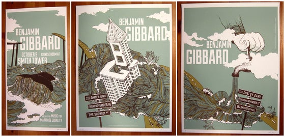 Image of Ben Gibbard   Three Poster Set