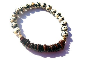 Image of Alex Bracelet {spotted + brown + bronze}