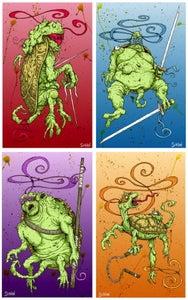 Image of 'MUTATED NINJAS' print set or Individual prints!