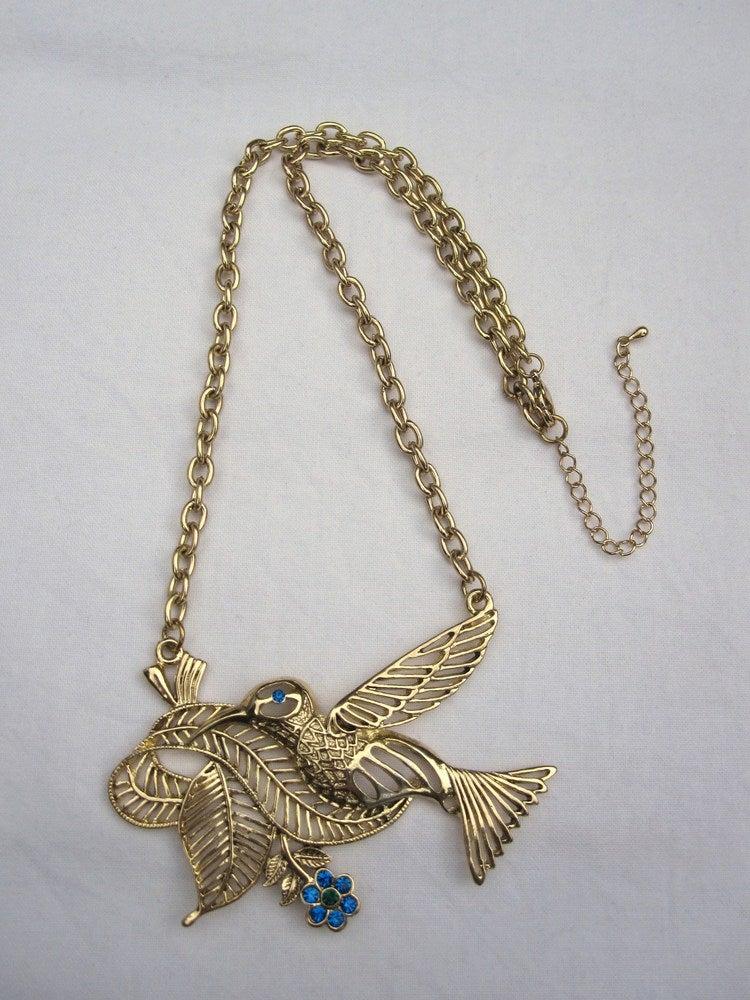 Image of Blue Bird Necklace