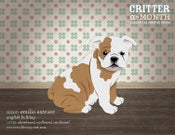 Image of Critter of the Month Bulldog Poster