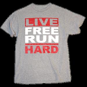 Image of Live Free Run Hard - Heather/Red/White