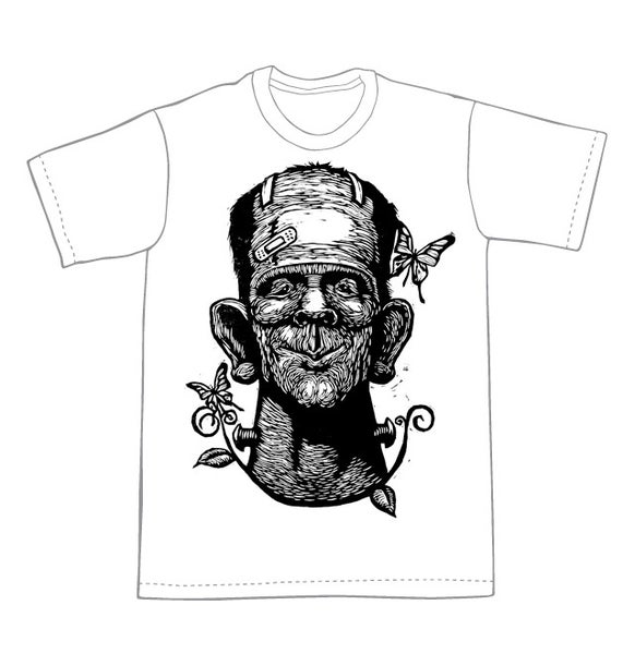 Image of Frankenstein with butterflies
