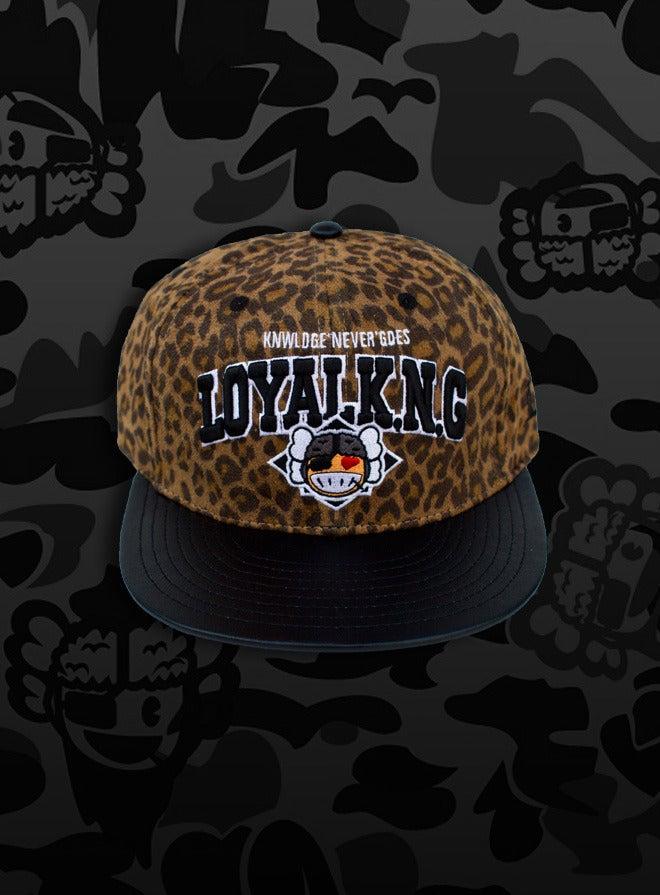 Image of Rebellious Loyal K.N.G. Strapback Cap - Brown-Leopard Suede