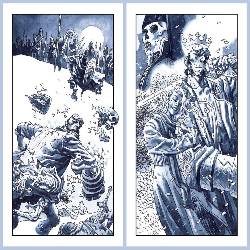Image of Hellboy: Foreword & Afterword     pair of prints