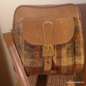 Image of Ivicta Unisex Vinyl/Frabric Shoulder Bag