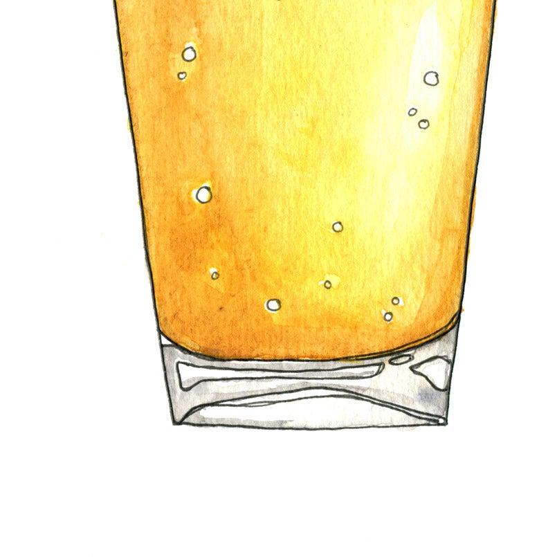 Image of Beer + Pretzel Print