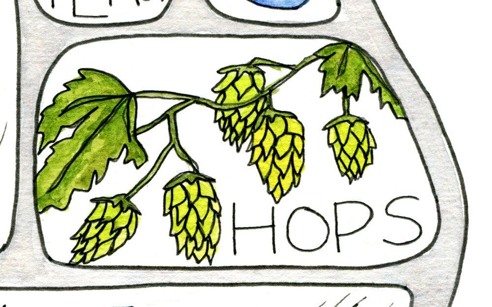 Image of Beer Pictogram Print