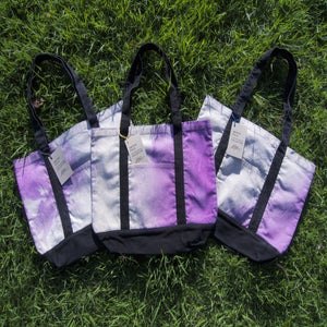 Image of UFC / ALR HAND DYED TOTE BAG -PURPLE TONES