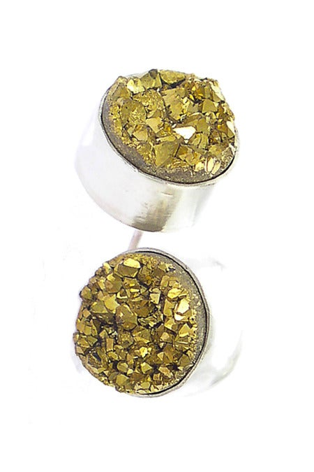 Image of Druzy Round Earrings {more color options}