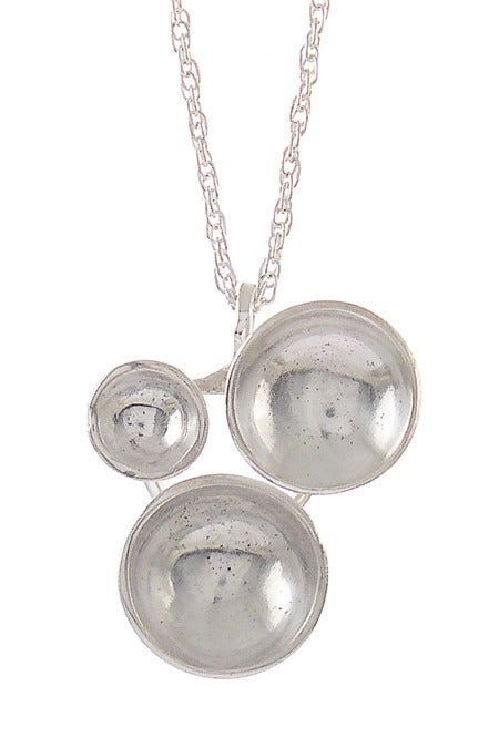 Image of Trine Necklace {silver}