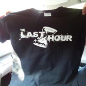 Image of The Last Hour White logo Tee on Black