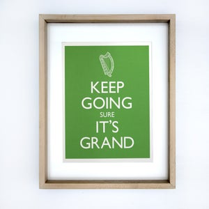 Image of KEEP GOING SURE IT'S GRAND A3 Print framed in Rocker Lane hardwood frame