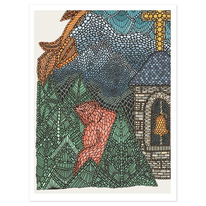 Image of European Brown Bear 40x30cm print