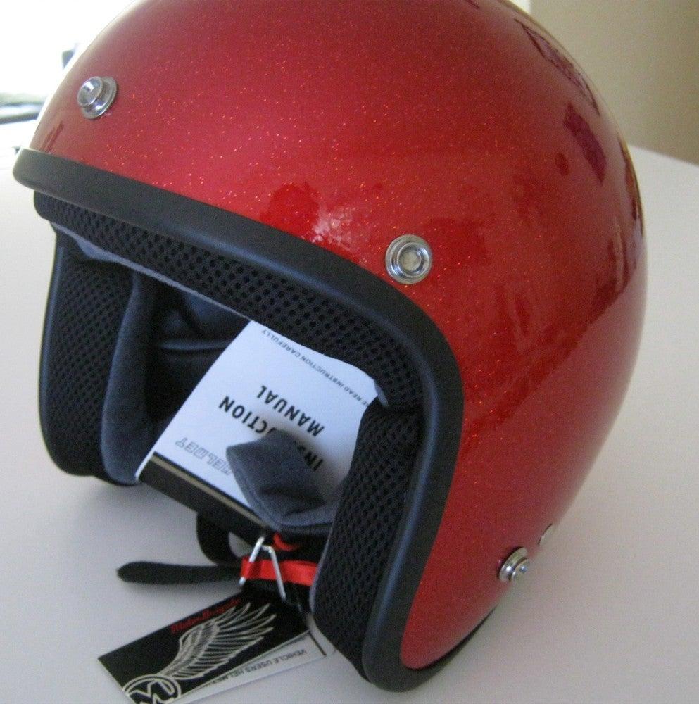Image of RED FLAKE MOTORBRIGADE DOT HELMET
