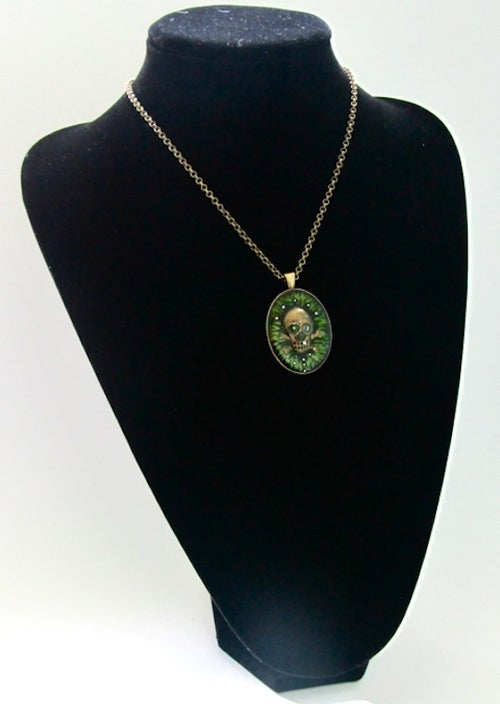 Image of Absinthe Rocks Skullie Glow Pendant
