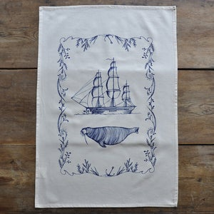 Image of Tea Towel ~ The Walrus and the Ship