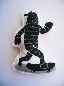 Image of free as a skating birdman *cushion