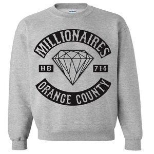 "Image of Millionaires Grey ""OC CLUB"" CREWNECK"