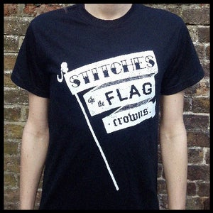 Image of Stitches in the Flag - Black