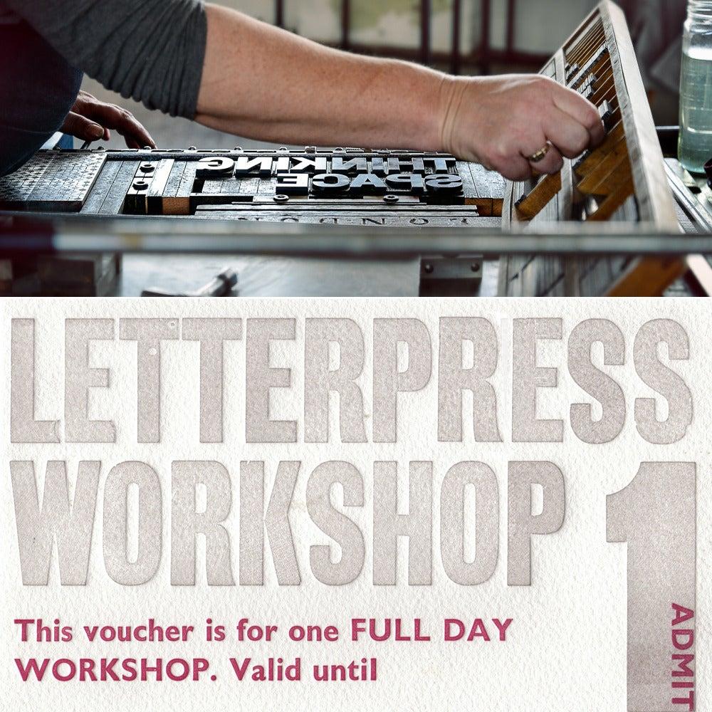 Image of Full Day Letterpress Workshop Voucher