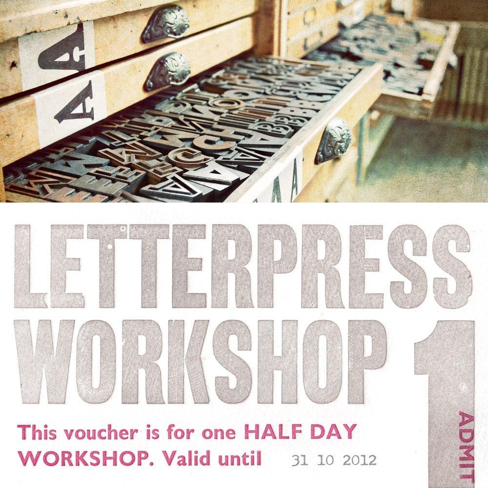 Image of Half Day Letterpress Workshop Voucher
