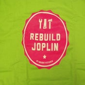 Image of Rebuild Joplin Tee-Lime Green and Pink Crew Neck