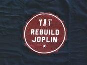 Image of Rebuild Joplin Tee-Blue with Red Logo