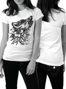 Image of Wolfography - Calligraphic Print - Ladies Fit