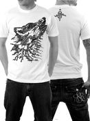 Image of Wolfography - Calligraphic Print - Mens Fit