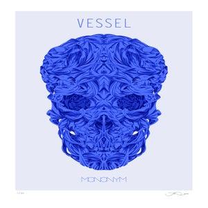 Image of Vessel (Blue skull) screen print