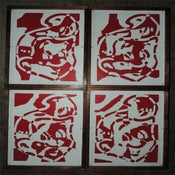 Image of SHT! Head Torn Set on Wood (RED/WHT)
