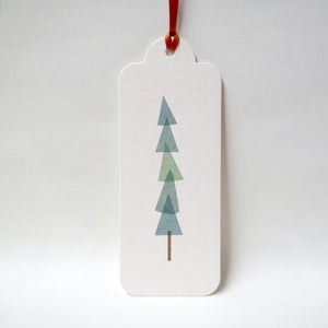 Image of 12 Christmas Pine Gift Tags