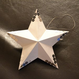 """Image of étoiles """"boule de noël"""" avec sequins"""