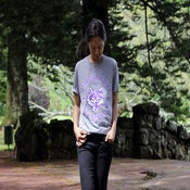 Image of Thugged Out Since Cub Scouts Tee: Grey Marle with Violet/White print.