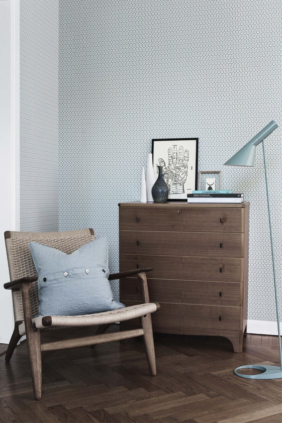 Image of Papel pintado geométrico Ypsilon - Scandinavian designers